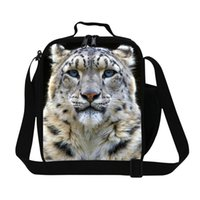 army food container - Portable Thermal Lunch Bag For Boys Tiger Print Thermal Picnic Bag Cooler Insulated Lunch Bag For School Children Food Container