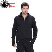 Cheap FIELD LIVED Brand Mens Military Style T Shirt Clothing Tactical Turtleneck Tshirt Cotton Long Sleeve T-shirt Male Plus Big Size Good Quality