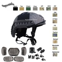 Wholesale Outdoor Equipment Airsoft Paintabll Shooting Helmet Head Protection Gear ABS Standard Version BJ Fast Tactical Airsoft Helmet