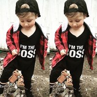 6-24M baby girl funny - high quality Baby Romper kids Boy girl Long Sleeve Jumpsuit I M THE BOSS funny letters printed Bodysuit Cotton children Outfit Clothes M