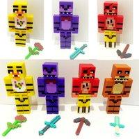 Wholesale Five nights at freddy s cartoon kids toys D figure toys PVC FNAF dolls FNAF Inch figure dolls
