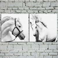framed horse prints high quality canvas prints white horse oil painting picture printed on canvas