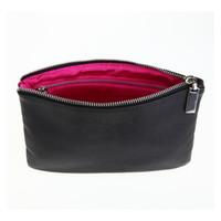 Wholesale Profession Makeup Brush Package Cosmetic Bags Full PU Double Zipper Bag Can Hold To Brush Sets Makeup Tools