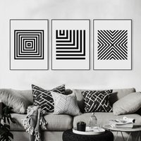 big black picture frames - Modern Black White Abatract Geometric Shape Bar Canvas Big A4 Art Print Poster Nordic Wall Pictures Home Decor Painting No Frame
