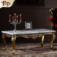 antique marble top furniture - Antique furniture manufacturer French classic coffee table with marble top