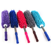 Wholesale Hot style scalable chenille car wax brush motor dust car wax brush duster household brush tool car