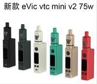 Precio de Evic joytech-Kit EVIC VTC Mini Tron con EVIC-VTC mini 75w Mod 4 ml Tron-s de control de temperatura <b>JOYTECH EVIC</b> VTC Mini V2 Kit vs Nebox istick 60w mod tc