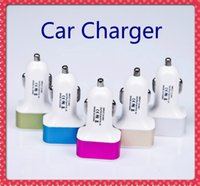Wholesale For iPhone car charger traver Adapter car plug hot selling Triple usb ports Car Charger with No package