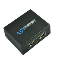 Wholesale Black P HDMI Splitter D HDMI SPlitter X2 split one HDMI input to HDMI output with power supply