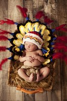 baby cherokee - Indian baby hat Cherokee perfect newborn photo prop cosplay clothing gift for baby