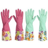 Wholesale High Quality A Pair Of Rubber Latex Cleaning Gloves Kitchen Housework Hand Cuff Washing Tools Housekeeping