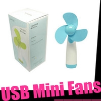 Wholesale 2016 Factory Direct Explosion Models Summer Creative Portable Handheld Mini Electric Fan Household Batteries Silent Clover