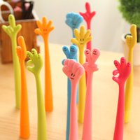 Wholesale South Korean cute creative cartoon ballpoint pen Stationery Gifts Bendable Ballpoint Pen arbitrarily curved finger pen gestures