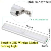 Wholesale Hot Stick on Anywhere Portable LED Wireless Motion Sensing Light Bar with Magnetic Strip Led Lights Battery Operated