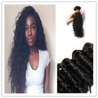 Wholesale 7A Top Quality Curly Human Hair Extensions Brazilian Human Deep Wave Hair Wefts Hair Extensions Curly Hair Weaves G Bundles
