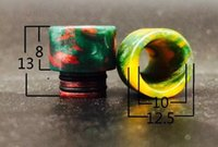 Wholesale Aleader factort direct hot sale resin drip tips rda drip tips stabilized wood color Funky60 box kit Dbox mod