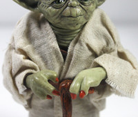 Wholesale DHL EMS FEDEX Star Wars cm Jedi Knight Master Yoda Action Figure toys for christmas gift
