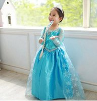 Wholesale High Quality Girl Dresses Princess Children Clothing Anna Elsa Cosplay Costume Kid s Party Dress Baby Girls Clothes