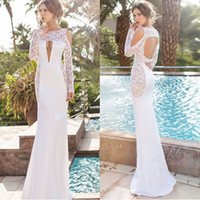 Wholesale Sexy strapless long sleeved lace hollow Slim package hip halter dress dress skirt holiday celebrations Festival dress