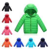 Wholesale Kids Winter Down Coat Unisex Children s Thick Warm Cotton Down Short Section Zipper Hooded Cotton Down Jacket