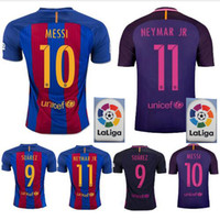 barcelona soccer shirts - Top thai Quality Jerseys MESSI Neymar A INIESTA SUAREZ SERGIO PIQUE I RAKITIC barcelona soccer jersey home and away shirt