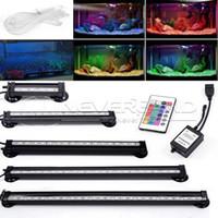 Wholesale US AU EU Plug CM RGB LED Aquarium Fish Tank Submersible Light Air Bubble Lamp Remote New
