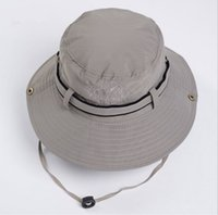 Wholesale Women Men Unisex Bucket Hat Wide Brim Summer Hat for Hunting Fishing Hicking Camping Climbing Outdoor Caps