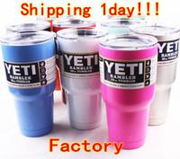 stainless steel spoon - 30oz oz oz Pink Yeti Coolers Cups YETI Rambler Tumbler Cup Cars Beer Mug Tumblerful Vacuum Insulated Stainless Steel Mugs Free Ship