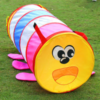 baby play park games - Outdoor crawling catoon animal caterpillar worm tube House tent Ocean ball pool park picnic holiday game play tent baby toy