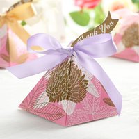 artificial sugar - Wedding Favors Boxes artificial flower peach blossom Luxury engagement Party Event handmake Candy boxes sugar boxes cake boxes for wedding