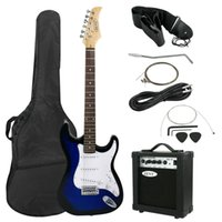 Wholesale 6 String Electric Guitar Watt Amp Gig Bag Case Guitar Full Size Strap Beginners