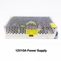 Wholesale AC110V V to DC V10A W Metal Switching Power Supply Adapter Transformers Box Distributor For CCTV Cameras DVR System LED