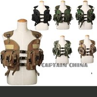 Wholesale Black tan green camo Military Tactical Vest Woodland Camouflage Paintball Seal Tactical Vest