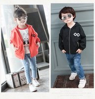 baby blue eyes - Hot sale baby boy girls zipper coat Hoodies horn eyes batwing sleeve loose coats jacket character kids clothing Autumn fall clothes