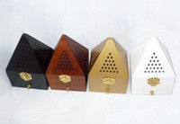 Wholesale Hot sale cm Tower Wooden smoked incense burner