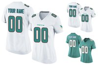 aqua game - 2016 Dolphins Women Youth Game Custom MIAMI Home Away White Aqua Football Jerseys Any Name Number Landry High Quality Stitched Wear