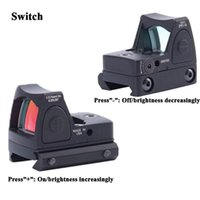 Wholesale 2016 New Trijicon Style Reflex Tactical Adjustable Red Dot Sight Scope for Rifle Scope Hunting picatinny rail Shooting Riflescopes