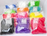 Wholesale colorful Rubber Loom bands Refills sports silicone bracelets bands S clips bracelets