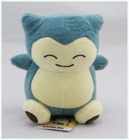 al por mayor juguetes de peluche-Monstruos Snorlax 6 del bolsillo del empuje del envío libre los 15cm de la muñeca de la felpa rellenaron los animales de Pikachu del juguete para los regalos del bebé
