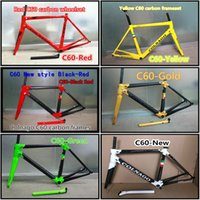 Wholesale The styles models of C60 s design road bicycle frames Made in China Full Carbon bike frameset with BB386
