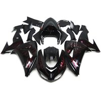 Wholesale Fairings For Kawasaki ZX10R ZX R Year Injection ABS Plastic Motorcycle Fairing Kit Bodywork Cowlings Black with Red Flame