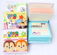 Wholesale 12Pcs fashion popular Cute Cartoon Memo Pad Note Pad Sticky Notes Memo Set Gift Stationery Retail