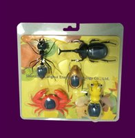 2016 nuevo 5 en 1 energía solar DIY juguete hormiga / abeja / escarabajo / cangrejo / escarabajo juguete solar mejor regalo para los niños 10PCS / lot # 16n1