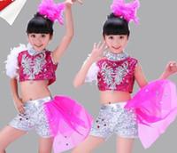 baby hip wear - 2016 new arrivel children girl Sequins modern dance jazz hip hop children dress dance wear