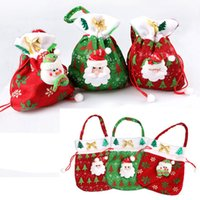 Wholesale christmas ornaments santa claus Christmas Candy Bags santa Christmas Tree Ornaments Stockings Gloves christmas gloves decoration