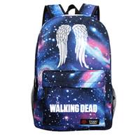 Wholesale The Walking Dead Hoodie Zombie Daryl Dixon Wings Backpacks Student Shoulder Bags