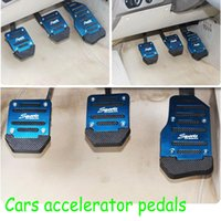 auto pedal pads - 3 Set Non slip Car Auto Vehicle Accelerator Brake Foot Pedal Cover Pad Per Set Aluminium Alloy