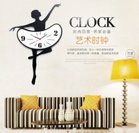 american chinese times - Mute Creative Diy Wall Decal Decorative Wall Clock Time Yakeli The Sitting Room Art Ballet Dance Style D Stickers