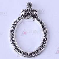 antique care - Antique silver bronze retro Crown Drilling care Manufacture DIY jewelry pendant fit Necklace or Bracelets charm z