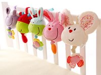 Wholesale 2016 new Baby toys animal music bell children appease hanging Music toy bed trailer baby bed appease toys genuine plush toys